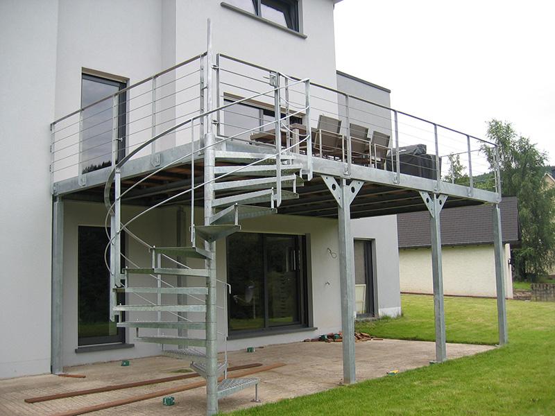 Ateliers Thines Baustert  Terrasses Structure Mtallique Asselborn